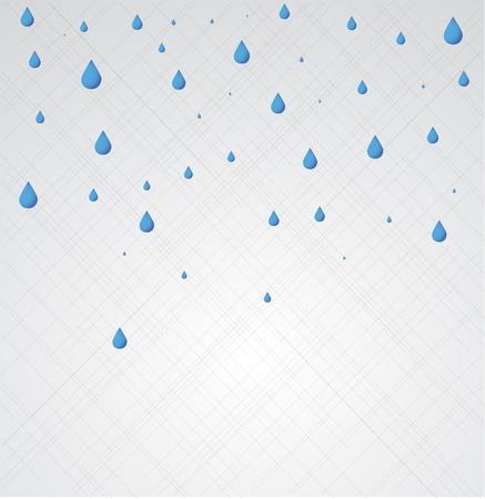Rain. Vector