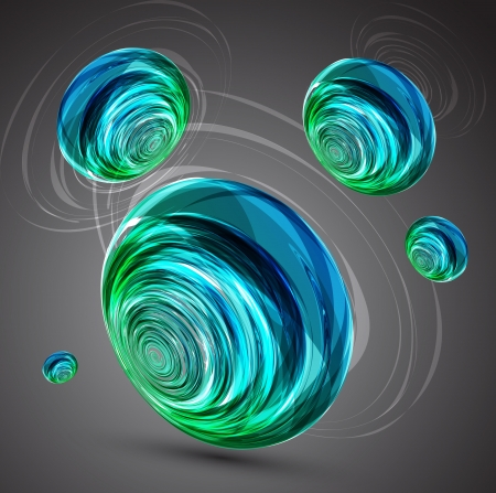 covet: Abstract sphere background.