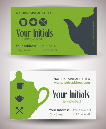 Tea card. Vector Vector