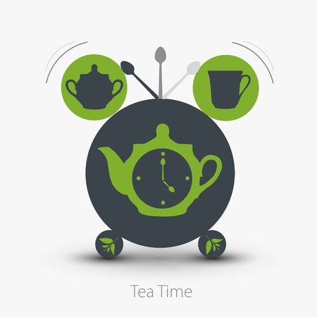 lunch break: Time for tea. Vector