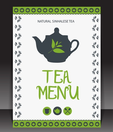 Tea menu. Vector Vector