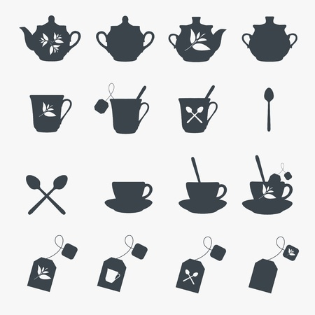 Set of tea objects. Vector Stock Vector - 16219680