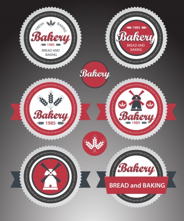 Set of bakery labels. Stock Vector - 16824683