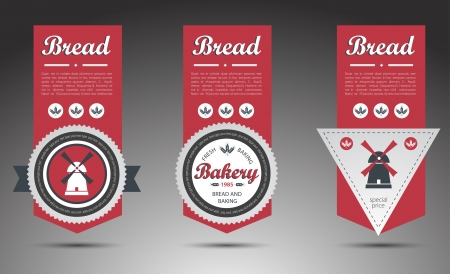 Set of bakery labels.  Stock Vector - 16824684