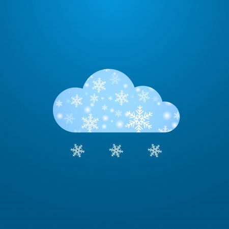 Weather in cloud. Winter theme Stock Vector - 16825439
