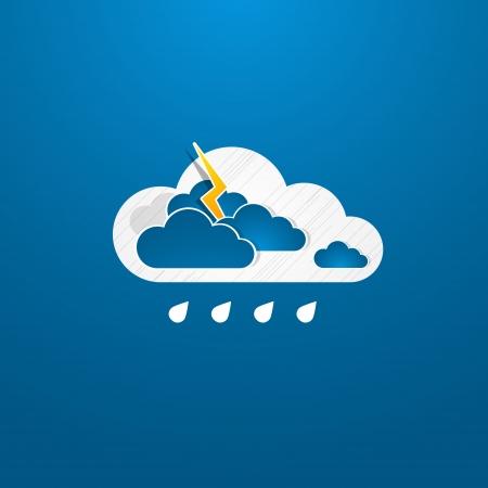 bad weather: Weather in cloud. Rain theme Illustration
