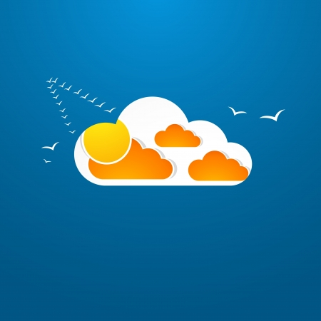 Weather in cloud. Autumn theme Stock Vector - 16825420