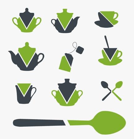 dinnerware: Set of tea objects.