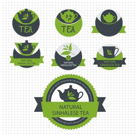 Set of tea label.