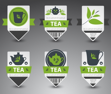 Set of tea labels. Stock Vector - 16824652