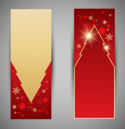 Vertical christmas web banners. Vector