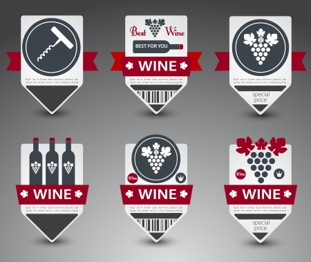 wine making: Set of wine labels.