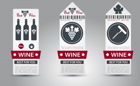 retro bottle: Set of wine labels.