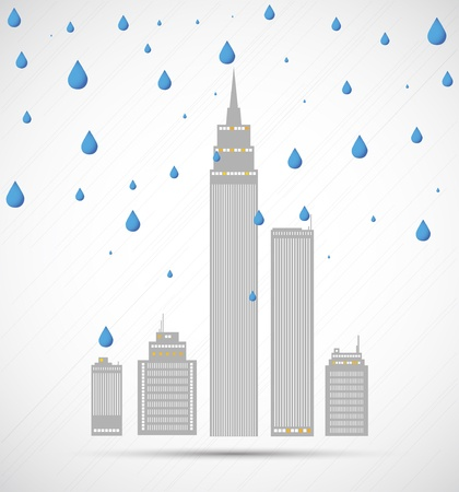 City weather. Vector Vector