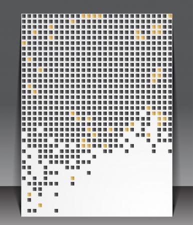 pix: Abstract pixel background. Illustration