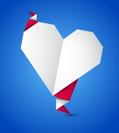 Origami heart Stock Vector - 17255741