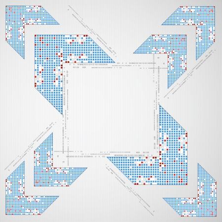 pix: Abstract background with arrow. Pixel art. Vector