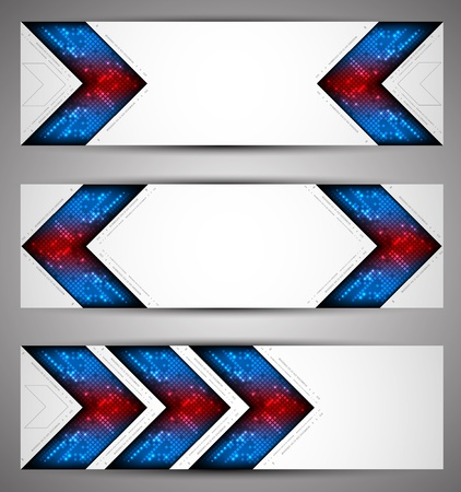 pix: Horizontal web banners. Pixel art. Vector