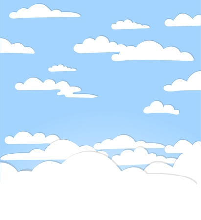 Good weather background. Blue sky with clouds Stock Vector - 17754680