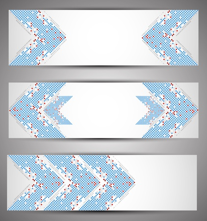 Horizontal web banners. Pixel art. Vector Stock Vector - 17754702