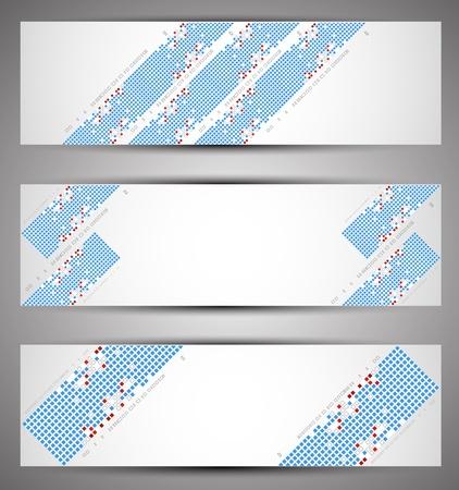 Horizontal web banners. Pixel art. Vector Stock Vector - 17754700
