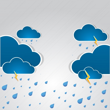 bad weather: Bad weather background  sky with clouds and lightnings Illustration