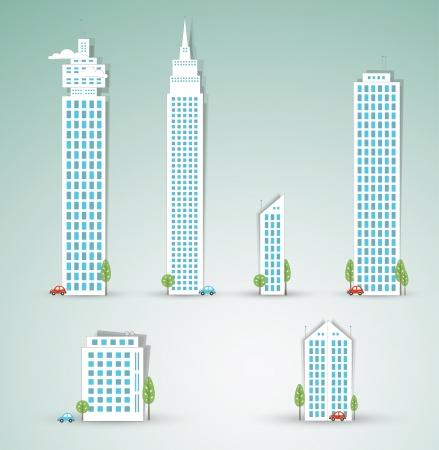 landscape road: Modern city objects