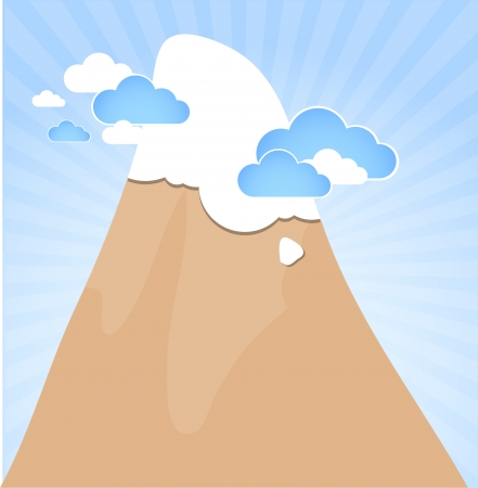 Clouds and mountain Stock Vector - 18001372