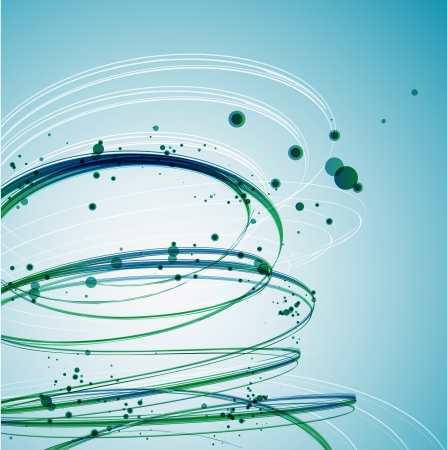 Abstract Green Wave background  Vector Vector