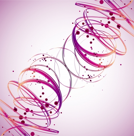 Abstract Pink Wave background  Vector Vector