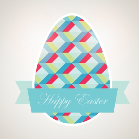 Retro easter background  Vector Vector