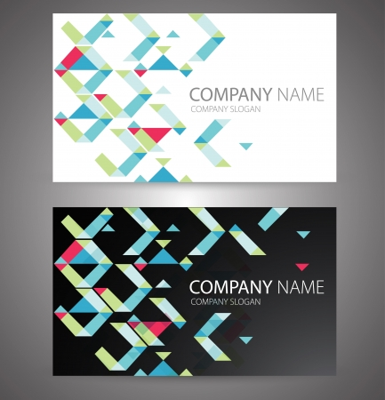 office visit: Vector abstract business cards