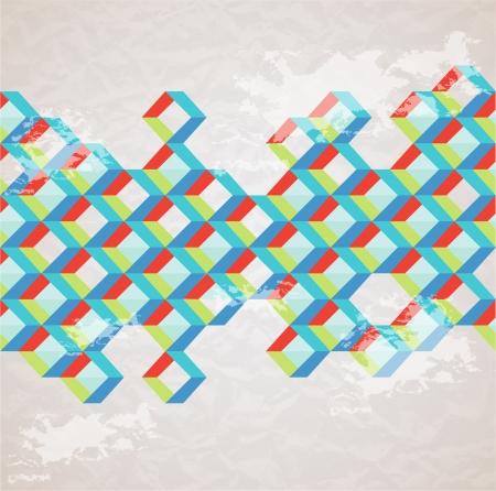Abstract retro-style background  Vector Vector