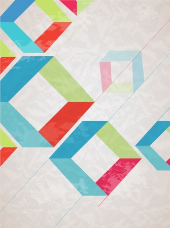 Abstract retro-style background  Vector Stock Vector - 18428886