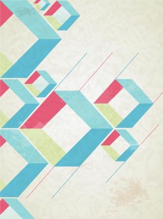 portada de revista: Resumen de estilo retro de fondo vector