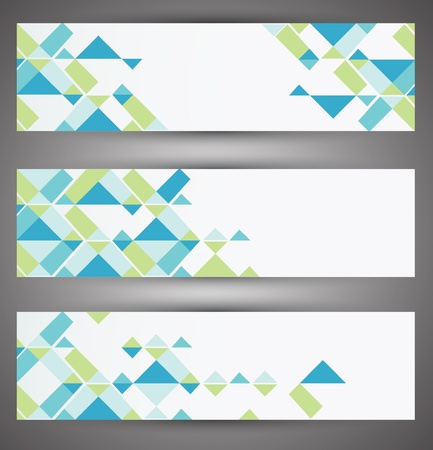 Colorful vector set web banners  Vector Stock Vector - 18428880