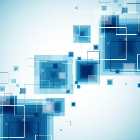 square composition: Blue technology background