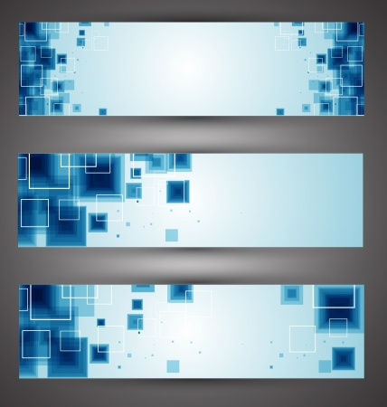 header design: Set of Technology web-banners  Illustration