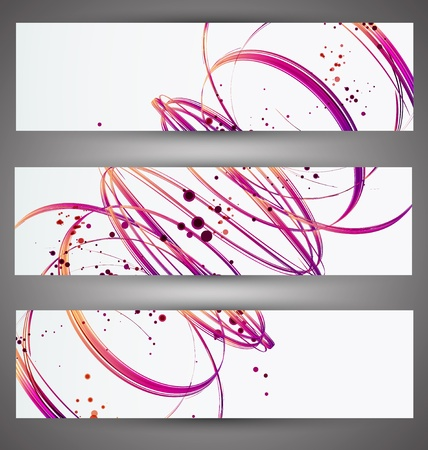 Set of bright banners  Vector Vector