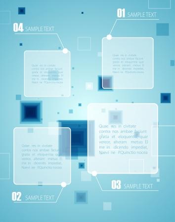 high society: Blue technology background