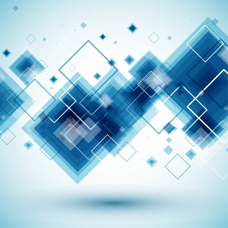 kare: Mavi teknoloji arka plan Çizim