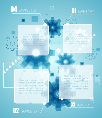 Blue technology infographic    Vector