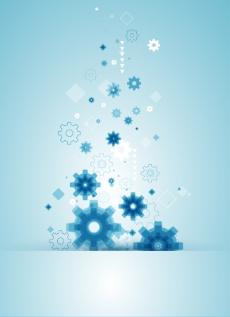 abstract background with blue cogwheels  Stock Vector - 19020395