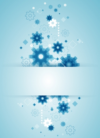 abstract background with blue cogwheels Stock Vector - 19020490