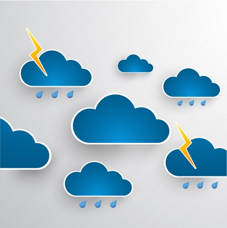 bad weather: Cloud theme background  Bad weather  Illustration