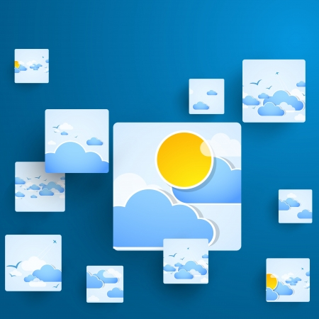 Squares Concept Illustration  Weather theme  Vector