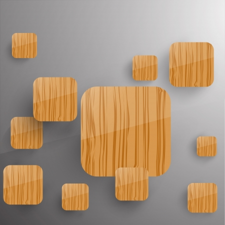 Squares Concept Illustration  Woode theme  Vector