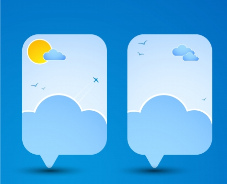 Paper speech bubble  Sky theme  Vector Stock Vector - 19314150