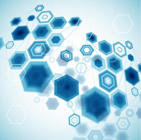 modeling: Abstract Hexagonal Background  Vector