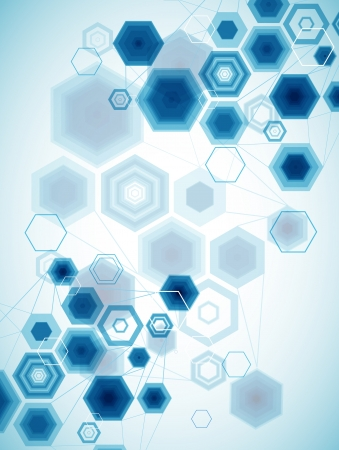 Abstract Hexagonal Background Vector